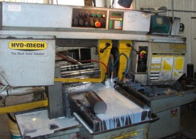 Automatically sawing material up to 12 inch diameter